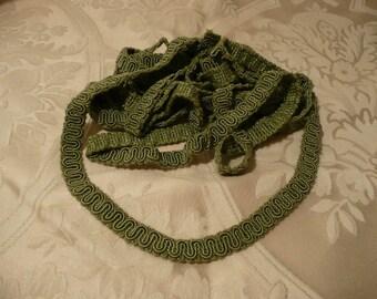 Vintage Moss Green Braid Trim