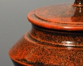 Large Lidded Canister in Persimmon