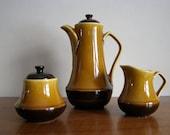 Vintage Modern Tea or Coffee Set with Creamer and Sugar Bowl