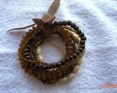 10 strand brown bracelet