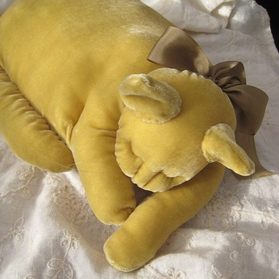 A Citron Yellow Velvet Cat