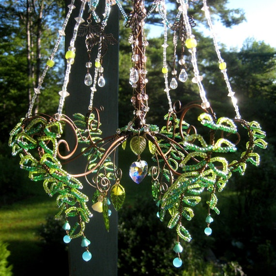 A Summer Party Sunshower Chandelier by BellStudios on Etsy # Sunshower Blue_021322