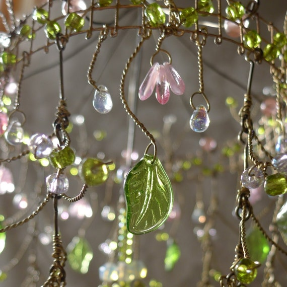 A Dainty Pink Sunshower Chandelier