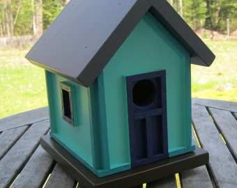 Birdhouse, Donette's Cottage, Shoreline Green with Teal