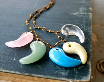Stone Teeth Necklace