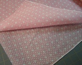 Vintage 35 Wide Pink Polka Dot Dotted Swiss Fabric half yard New Old Stock 1950's by the half yard