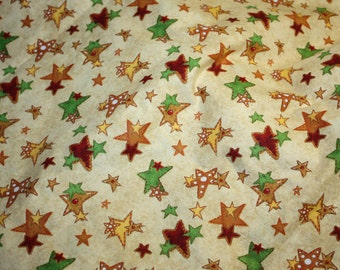 Ginger Trees Stars All Over Tan by Robin Betterley for Wilmington Prints Christmas