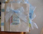 Hand Crafted Paper Bag Scrapbook - Baby Boy