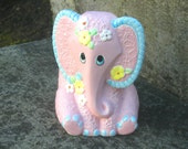 pink lefton elephant planter