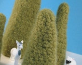 Tiny Felted Forest .. Wool Trees Holiday Decoration