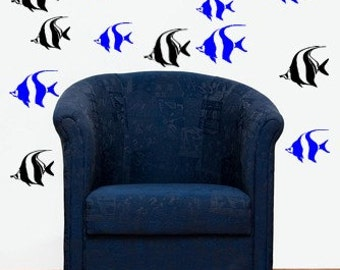 Angel Fish School Vinyl Wall Decal