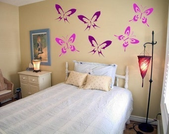Butterfly Set (6) Vinyl Wall Decal