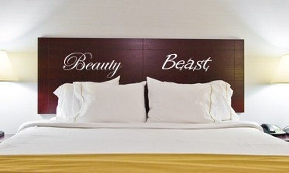 Beauty and Beast Vinyl Wall Decal