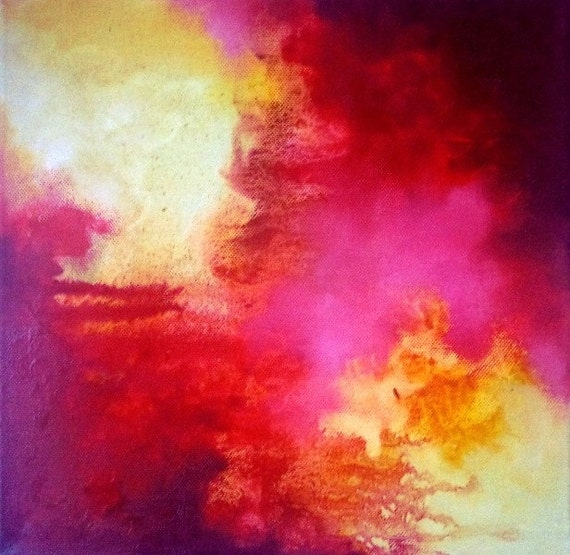 Abstract 45 - original oil painting 12x12 inch SALE 50% OFF