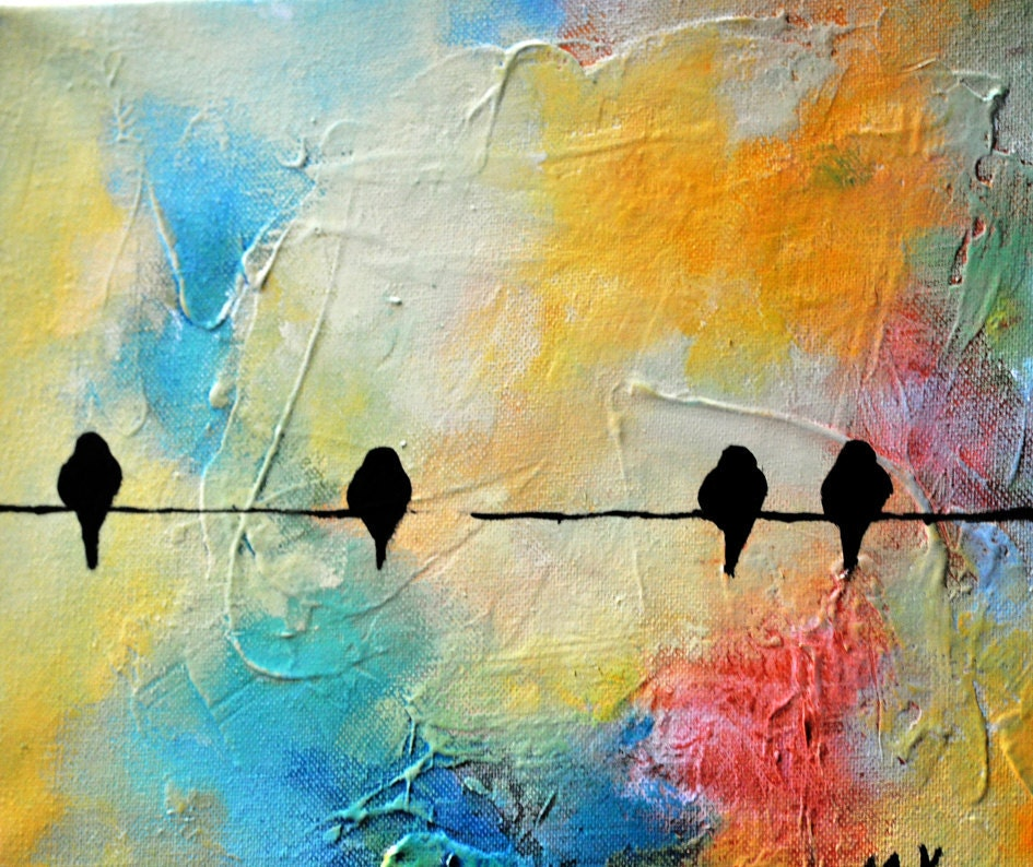 Bird paintings abstract - photo#25