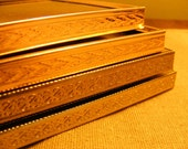 Vintage Gold PICTURE FRAME Instant Collection of 4 Small, Gold Metal, Large, Lot