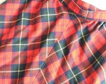 Skirt PENDELTON KILT Womens Small, Classic Red Plaid, Wool Tartan Vintage Back To School