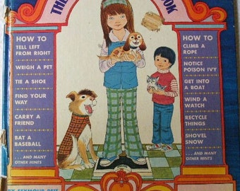 70s The EASY HOW TO Book - Large Hardcover Illustrated Golden Book