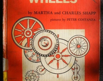 1962 Let's Find Out About WHEELS 1960s Illustrated Childs Reader