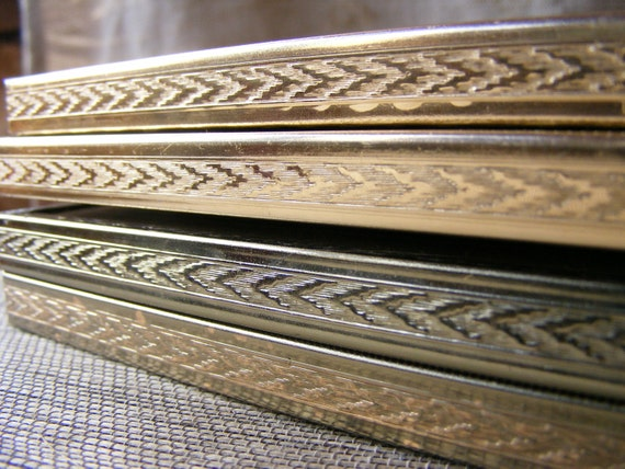 Vintage Gold PICTURE FRAME Instant Collection of 3 - 8 x 10, Single and Double Gold Metal, Large, Lot