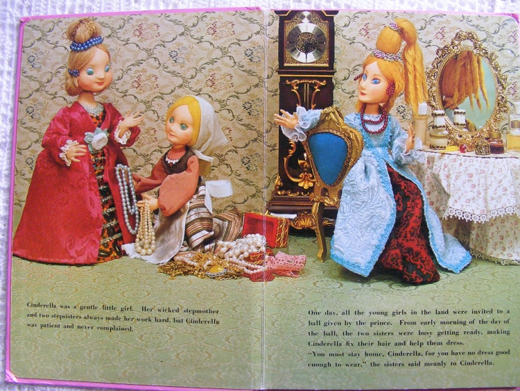 Vintage 70s Cinderella Book Giant 3d Fairy Tale By
