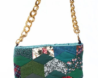 Patchwork tea cosy handbag