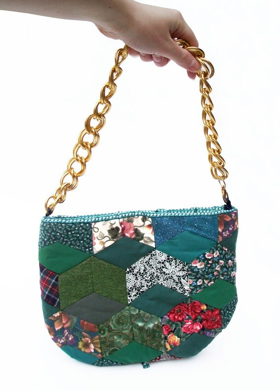 Patchwork tea cosy handbag