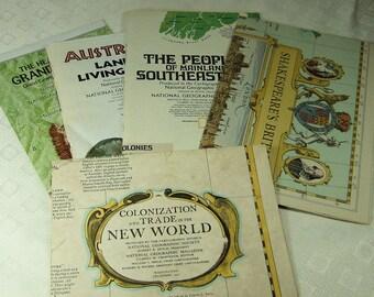 Vintage Maps from Around the World Ephemera