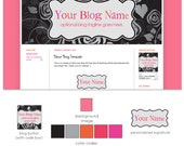 Black Rose Premade Blogger Design Template