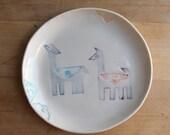 Llama plate. no.2