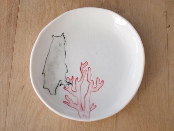 SALE owl dish