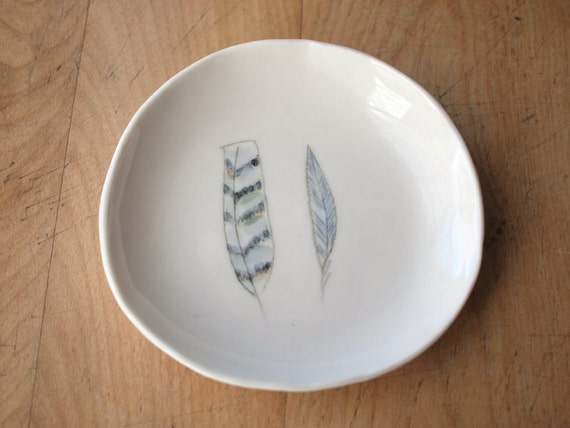 porcelain feather dish . no94