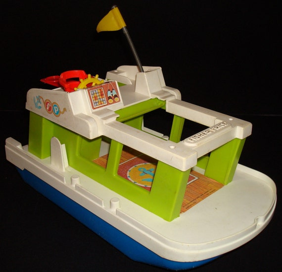 1972 Vintage Fisher Price Little People House Boat By