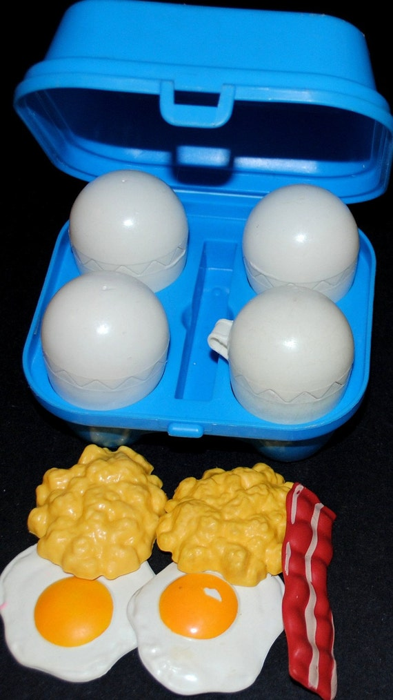 Fisher Price Toy Food : Fun with food crackin bacon and eggs