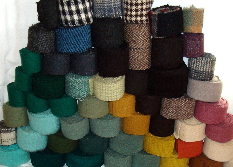 Vintage Wool Strips For Rug Braiding Braided Carpet Hooking