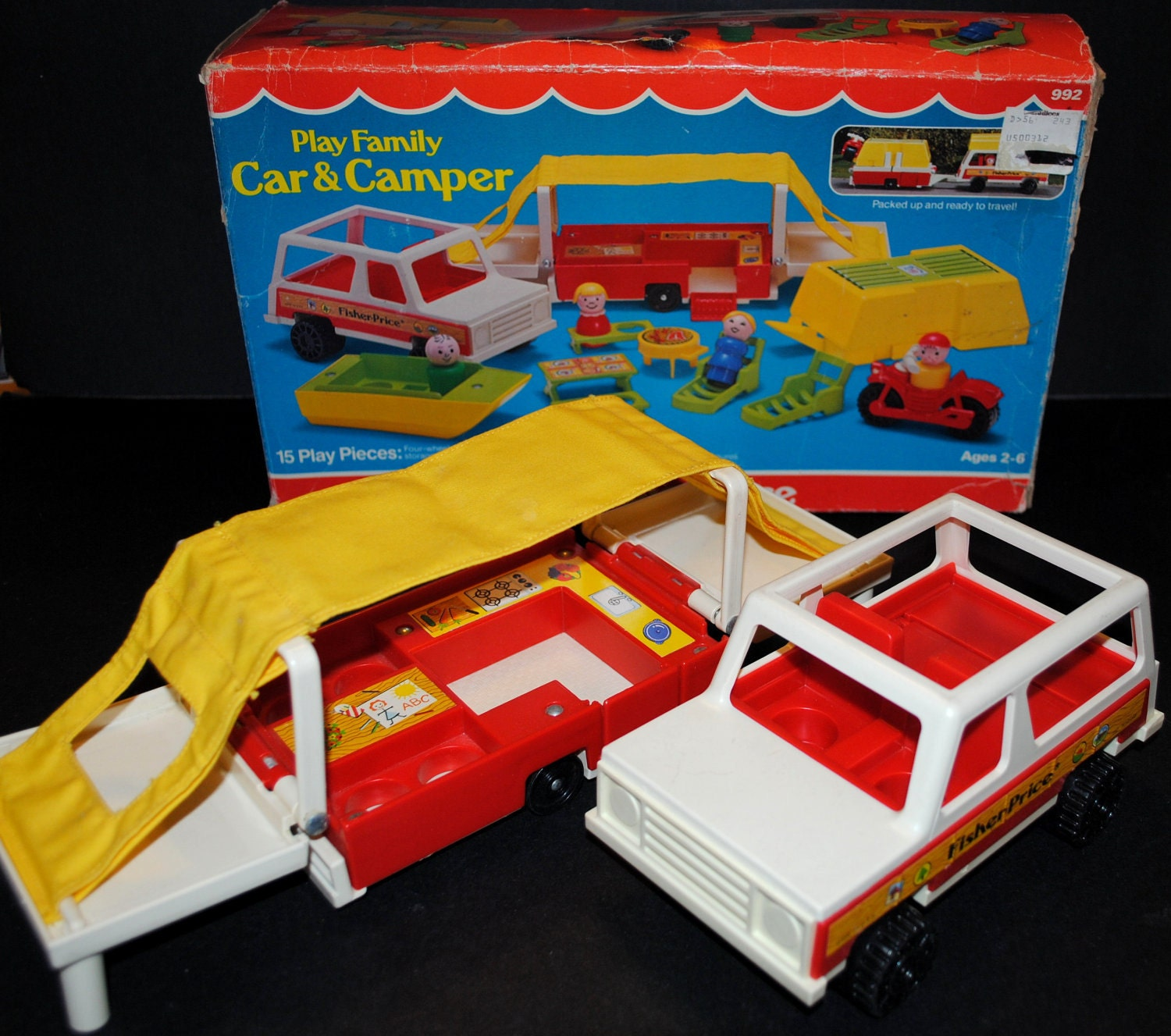 Fisher Price Pop Up Camper Jeep Wagon 992