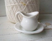 SALE- Tiny Bowl and Pitcher Set