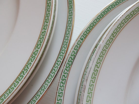 Set of Eight Antique China Plates