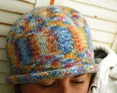 Multi-Colored Knit Hat - ON SALE and FREE SHIPPING