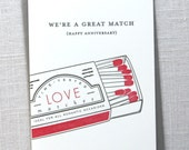 letterpress card  //  anniversary  //  great match // SALE—discontinuing