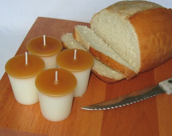 WARM BAKED BREAD (4 votives or 4-oz soy jar candle)
