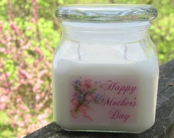 MOTHER'S DAY - 10 oz soy jar candle - your choice of fragrance