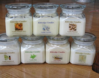 VANILLA COLLECTION: One 10-oz Soy Jar Candle (15% discount)