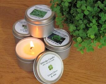 IRISH  SAMPLER (four 2-oz soy candles)