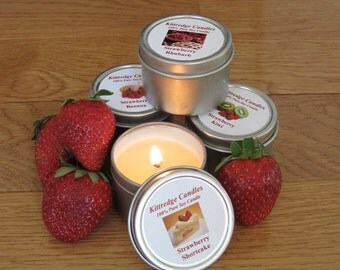 STRAWBERRY SAMPLER (four 2-oz soy candles)
