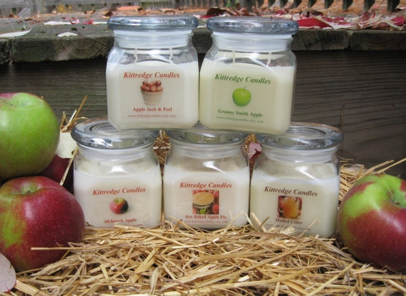 APPLE LOVERS COLLECTION - One 10-oz Soy Jar Candle