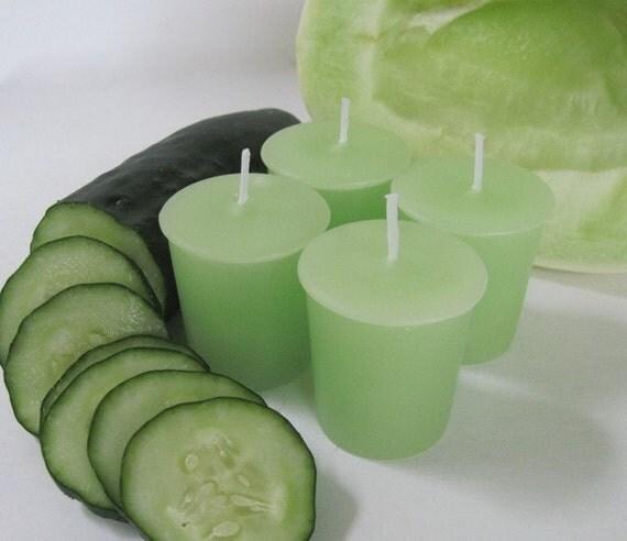 CUCUMBER MELON (4 votives or 4-oz soy jar candle)