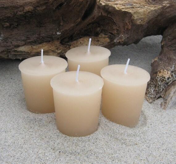 SANDALWOOD VANILLA (4 votives or 4-oz soy jar candle)