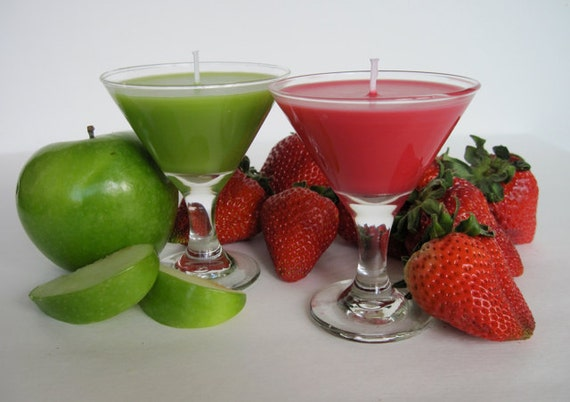 STRAWBERRY or APPLE MARTINI candle