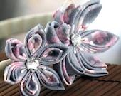 Japanese Fabric Flower Headband, Kanzashi Head Band in Sweet Sakura